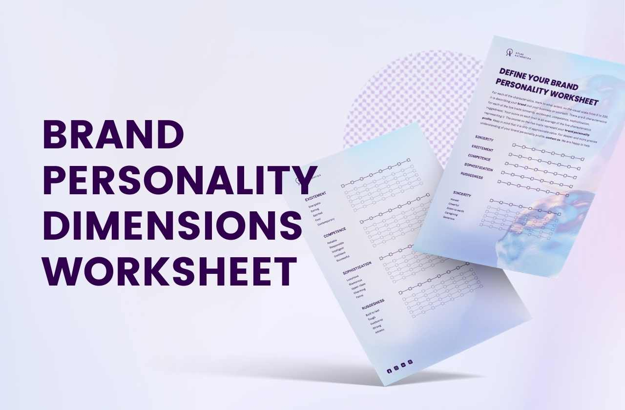 Brand personality dimensions worksheet