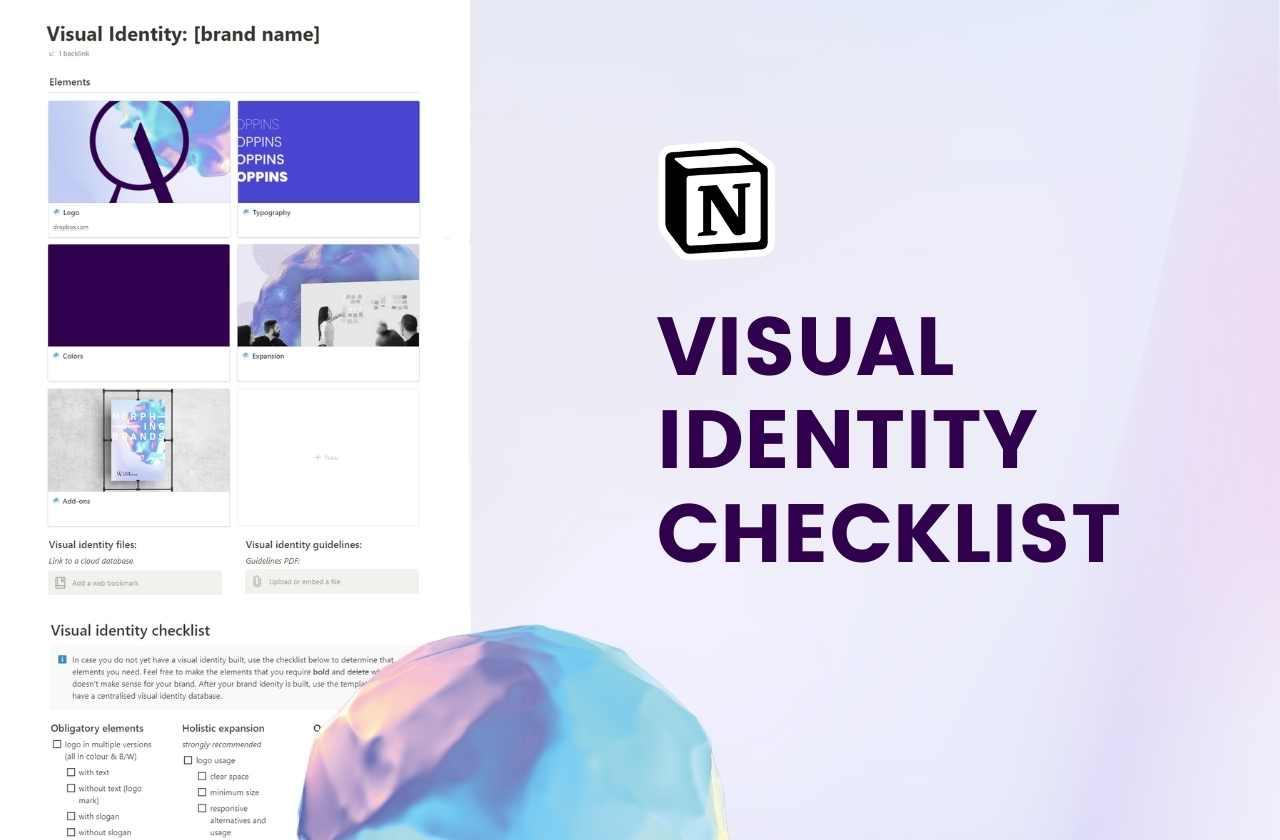 Visual identity checklist Notion template