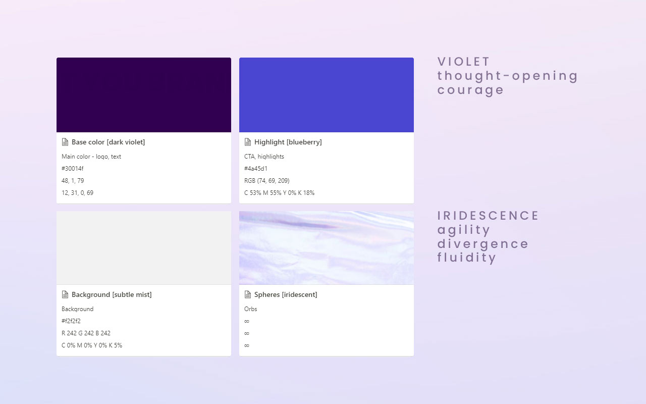 Atlas Authentica visual identity colors